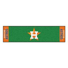 "MLB - Houston Astros Putting Green Runner 18""x72""   Putting Green Mat"