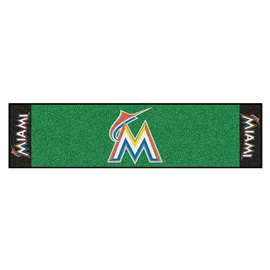 "MLB - Miami Marlins Putting Green Runner 18""x72""   Putting Green Mat"