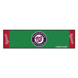 "MLB - Washington Nationals Putting Green Runner 18""x72""  Putting Green Mat"