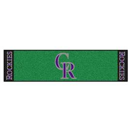 "MLB - Colorado Rockies Putting Green Runner 18""x72""   Putting Green Mat"