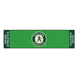 "MLB - Oakland Athletics Putting Green Runner 18""x72""  Putting Green Mat"