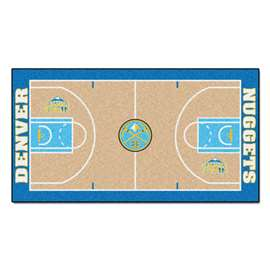 NBA - Denver Nuggets  NBA Court Large Runner Mat, Carpet, Rug