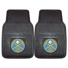NBA - Denver Nuggets 2-pc Vinyl Car Mat Set Front Car Mats