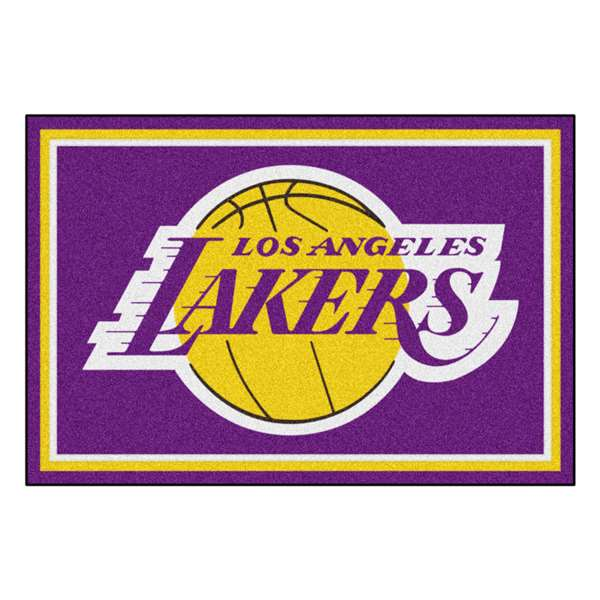 NBA - Los Angeles Lakers 5x8 Rug Plush Rugs