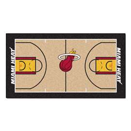 NBA - Miami Heat  NBA Court Large Runner Mat, Carpet, Rug