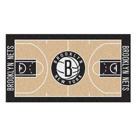 NBA - Brooklyn Nets  NBA Court Large Runner Mat, Carpet, Rug