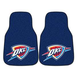 NBA - Oklahoma City Thunder 2-pc Carpet Car Mat Set Front Car Mats