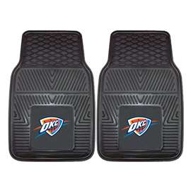 NBA - Oklahoma City Thunder 2-pc Vinyl Car Mat Set Front Car Mats