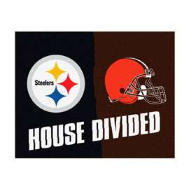 NFL House Divided - Steelers / BrownsFloor Rug Mats