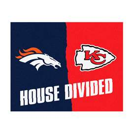 NFL House Divided - Broncos / Chiefs House Divided Mat Rectangular Mats