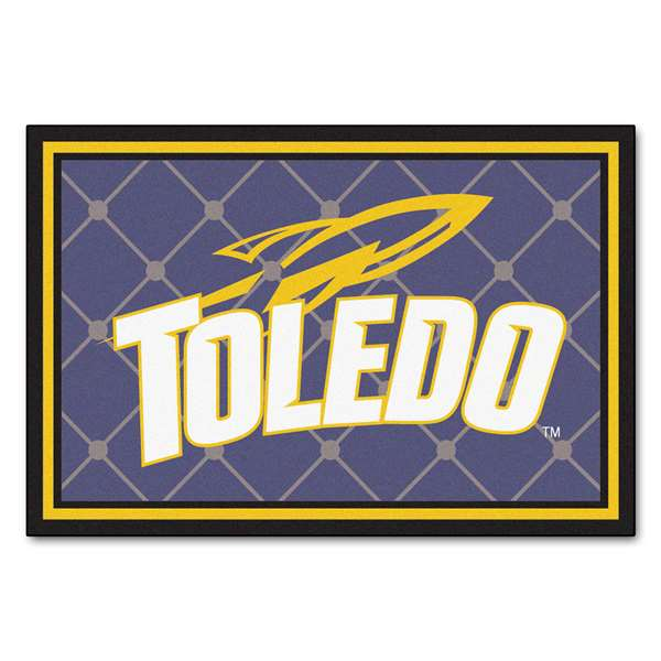 University of Toledo 5x8 Rug Plush Rugs