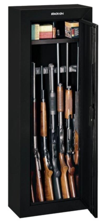 Gun Security Cabinet >> Stack On 8 Gun Security Cabinet Black