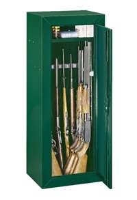 Stack-On GCG-14P-DS 14 Gun Steel Security Cabinet, Hunter Green