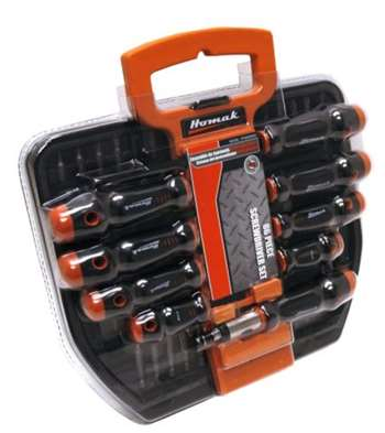Homak 86-Piece Screwdriver Set with Holder