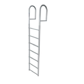 JIF Marine 7-Step Stationary Ladder Aluminum Boat - Dock Ladder