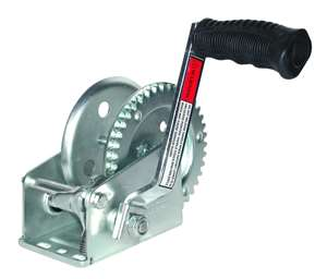 JIF Marine 800lb/360kg Trailer Winch 1-Piece Solid Gear / Winch & Strap