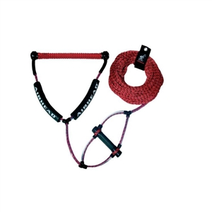 AIRHEAD Wakeboard Rope, Phat Grip, Trick Handle, Red ROPES & BUNGEES