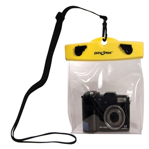 DRY PAK Camera Case, Clear, 6 x 5 x 1 1/2, Yellow/Clear Yellow / Clear 6 x 5 x 1 1/2 Inches