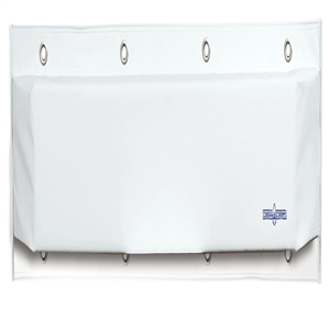 "HULL HUGR Dock Bumper, 36"" x 6"" x 4""  White 36 x 6 x 4 in"