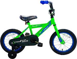 Apollo FlipSide 14 inch Kid's Bicycle, Green/Blue