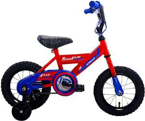 Apollo FlipSide 12 inch Kid's Bicycle, Red/Blue