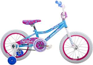 Apollo Heartbreaker 16 inch Kid's Bicycle, Ages 4 to 7, 36 to 44 inches tall, Teal