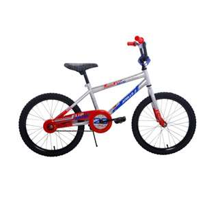 Apollo Flipside 20 inch Kid's Bicycle, Ages 7 to 12, 48 to 60 inches tall, Silver