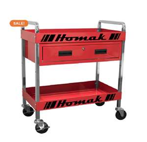 Homak 30 inch 1 - Drawer Service Cart - Red