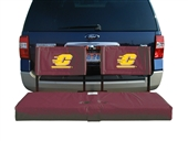 Central Michigan Tailgate Hitch Seat Cover with Cargo Carrier