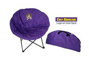 East Carolina University Pirates Round Chair - Tailgate Camping Dorm