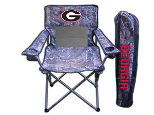 University of Georgia Bulldogs Realtree Camo Chair Tailgate Camping