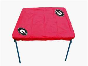 University of Georgia Bulldogs Card Table Cover