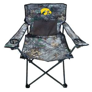 University of Iowa Hawkeyes Realtree Camo Chair Tailgate Camping