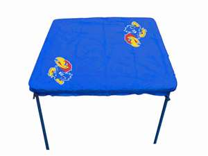 University of Kansas Jayhawks Card Table Cover