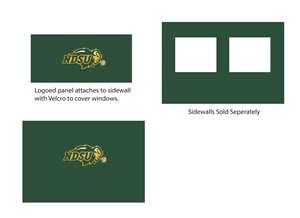 North Dakota State University Side Wall Panel for 9X9 Canopy