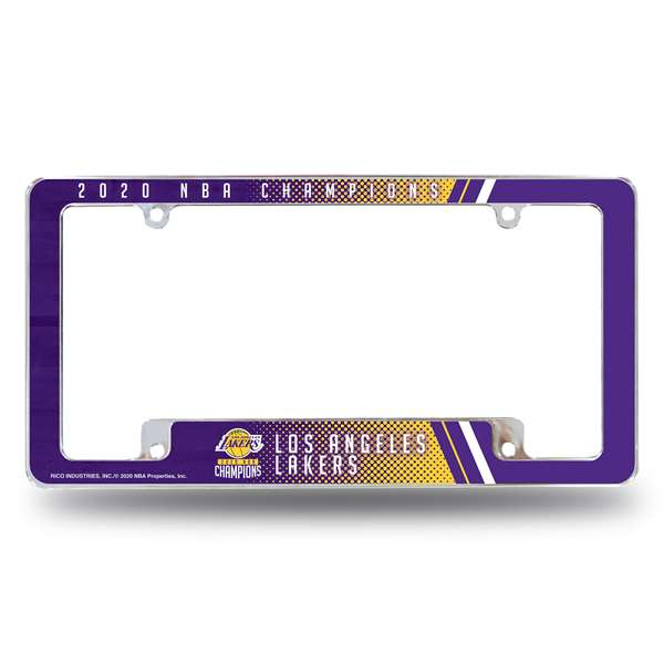 Los Angeles Lakers  2020 NBA Champions ALL OVER CHROME FRAME (BOTTOM ORIENTED)