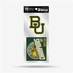 Baylor University Bears 2021 NCAA Basketball National Champions Double Up Sticker