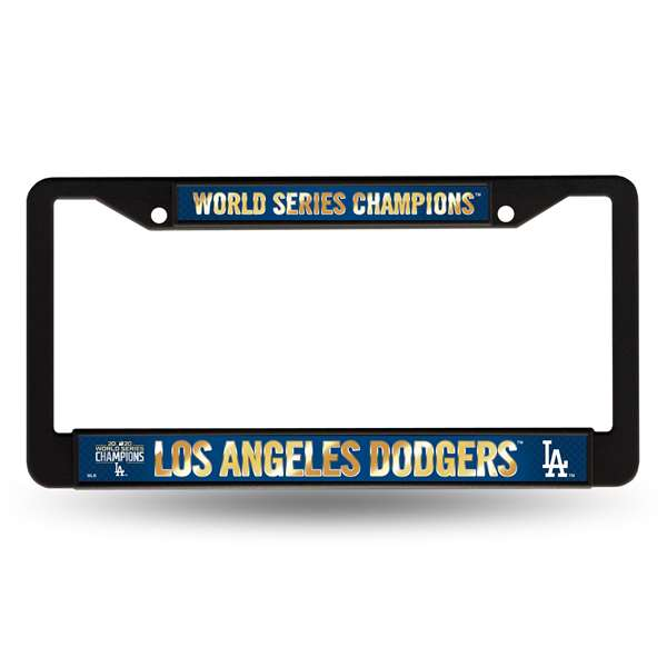 Los Angeles Dodgers 2020 World Series Plastic Car Tag Frame - Black