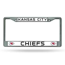 Kansas City Chiefs Rico Chrome License Plate Frame
