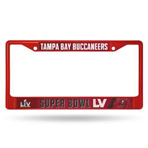 Tampa Bay Buccaneers 2020 NFC Champions Super Bowl LV Bound Color Chrome License Plate Frame | Red