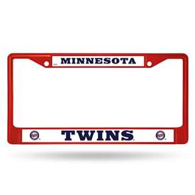 Minnesota Twins Rico Chrome Plated Zinc License Plate Frame