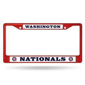 Washington Nationals Rico Chrome Plated Zinc License Plate Frame