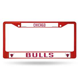 Chicago Bulls Rico Chrome Plated Zinc License Plate Frame