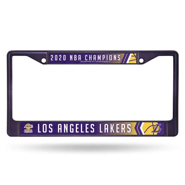 Los Angeles Lakers  2020 NBA Champions COLORED CHROME FRAME - PURPLE