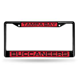 Tampa Bay Buccaneers Rico Black Chrome License Plate Frame