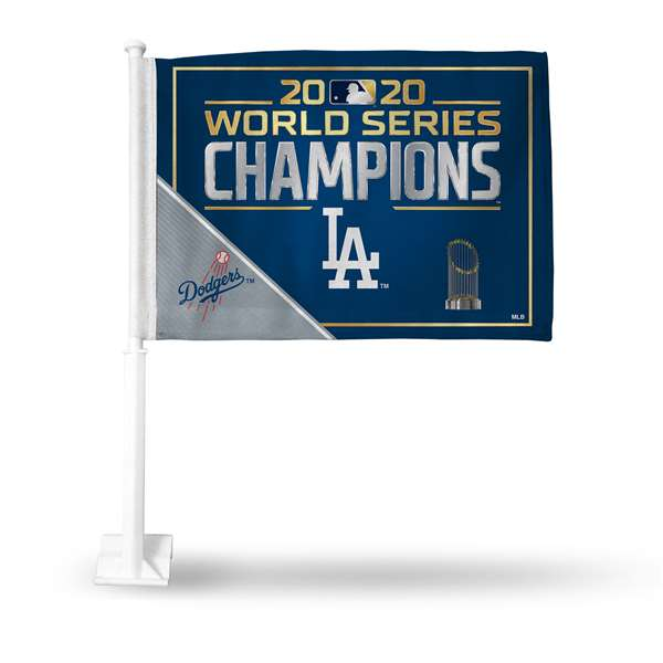Los Angeles Dodgers 2020 World Series Car Flag