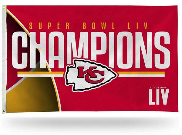 Kansas City Chiefs Super Bowl LIV 54 Champions Super Bowl LIV 54 Champions 3X5 Flag