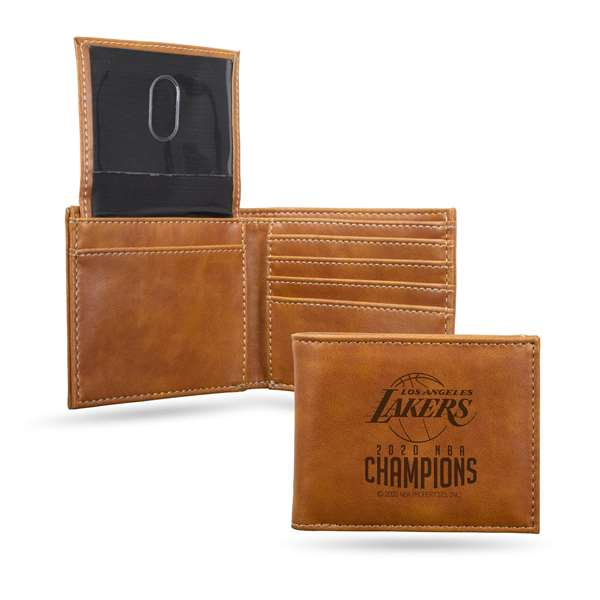 Los Angeles Lakers  2020 NBA Champions LE BILLFOLD WALLET (BROWN)