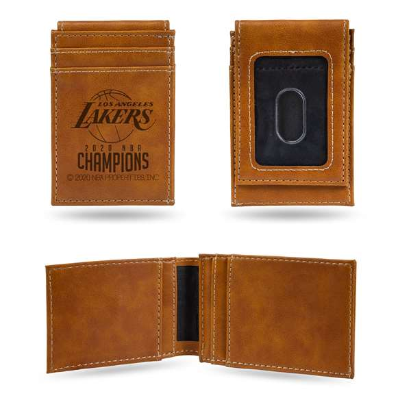 Los Angeles Lakers  2020 NBA Champions LE FRONT POCKET WALLET (BROWN)