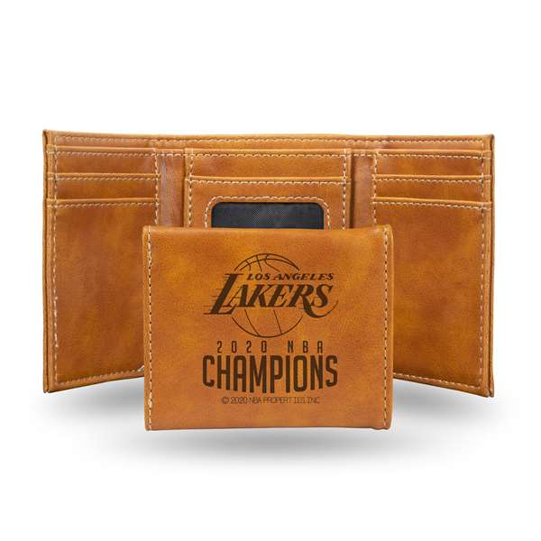Los Angeles Lakers  2020 NBA Champions LE TRIFOLD WALLET (BROWN)